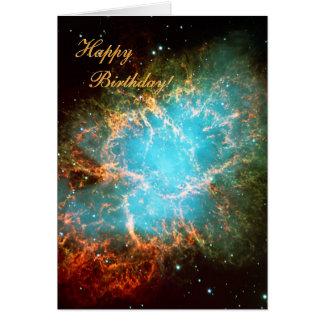 La nebulosa de cangrejo en el tauro - feliz tarjeta de felicitación