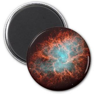 La nebulosa de cangrejo imán redondo 5 cm