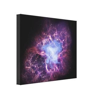La nebulosa de cangrejo impresiones de lienzo