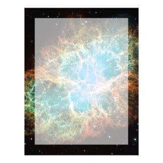La nebulosa de cangrejo plantilla de membrete
