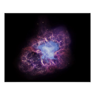 La nebulosa de cangrejo póster