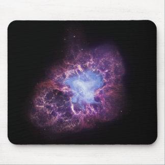 La nebulosa de cangrejo tapete de raton