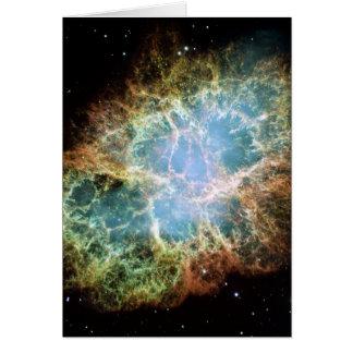 La nebulosa de cangrejo tarjeta de felicitación