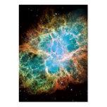 La nebulosa de cangrejo plantilla de tarjeta personal