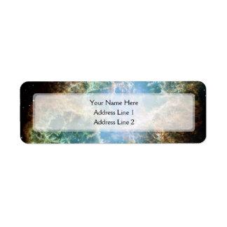 La nebulosa de cangrejo (telescopio de Hubble) Etiquetas De Remite