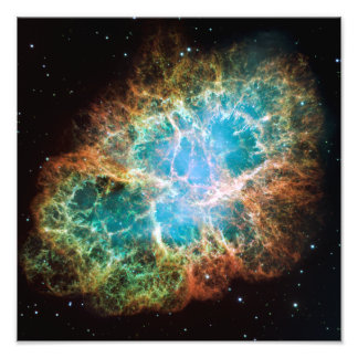 La nebulosa de cangrejo (telescopio de Hubble) Fotografía