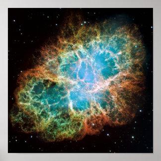 La nebulosa de cangrejo (telescopio de Hubble) Impresiones