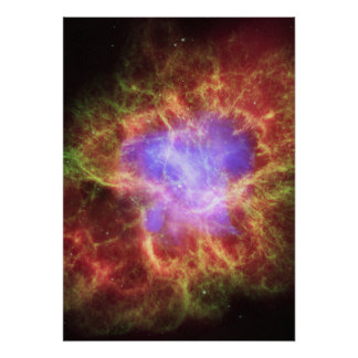 La nebulosa de cangrejo una estrella muerta crea e impresiones