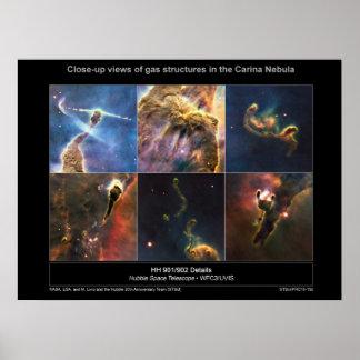 La nebulosa de Carina detalla el poster