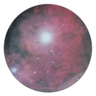 La nebulosa de Dumbell Plato De Comida