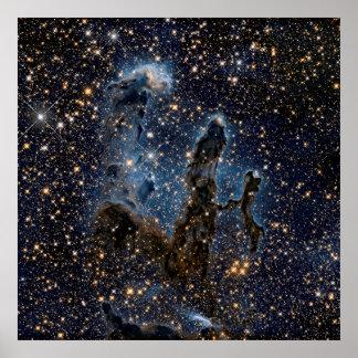 La nebulosa de Eagle aka los pilares de la Póster