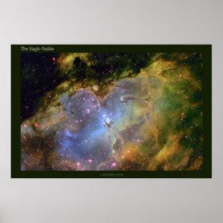 La nebulosa de Eagle una visión distante Póster