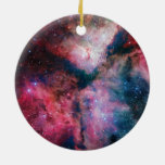 La nebulosa de estrella-formación espectacular de adorno redondo de cerámica