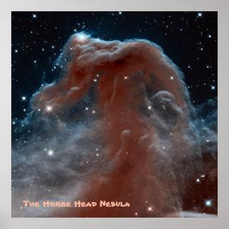 La nebulosa de la cabeza de caballo con título póster