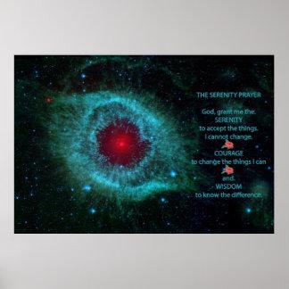La nebulosa de la hélice del REZO de la SERENIDAD. Póster