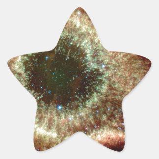 La nebulosa de la hélice pegatina en forma de estrella