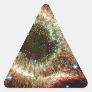 La nebulosa de la hélice pegatina triangular
