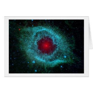 La nebulosa de la hélice tarjeta de felicitación