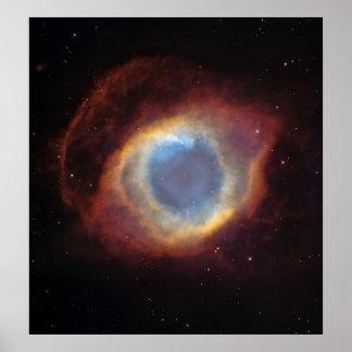 La nebulosa de la hélice: un sobre gaseoso póster