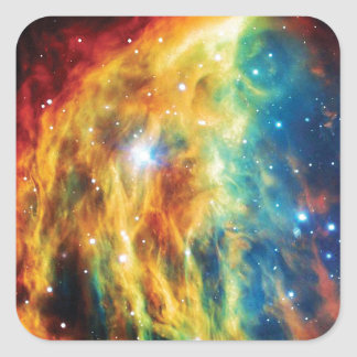 La nebulosa de la medusa pegatina cuadrada