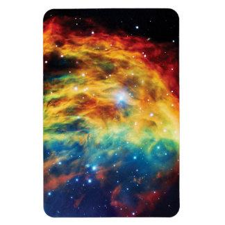 La nebulosa de la medusa rectangle magnet