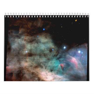 La nebulosa de Omega (nebulosa del cisne: M17) Calendarios