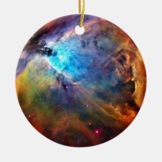 La nebulosa de Orión Adorno Navideño Redondo De Cerámica