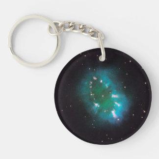 La nebulosa del collar (telescopio de Hubble) Llavero Redondo Acrílico A Doble Cara