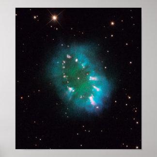 La nebulosa del collar (telescopio de Hubble) Póster