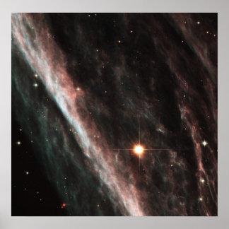 La nebulosa del lápiz: Remanente de una estrella e Poster