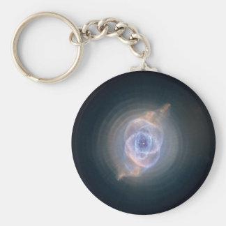 La nebulosa del ojo de gato llavero redondo tipo pin