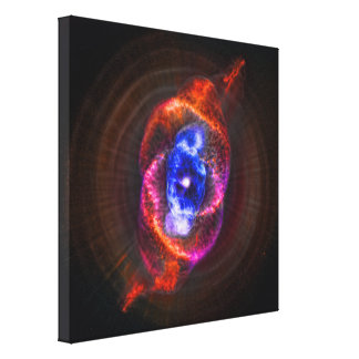 La nebulosa del ojo de gatos - gigante rojo de lona estirada galerias