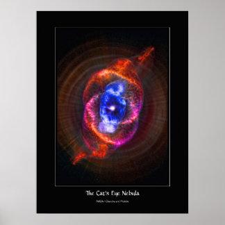 La nebulosa del ojo de gatos - gigante rojo de póster