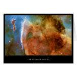 La nebulosa del ojo de la cerradura del telescopio felicitaciones