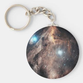 La nebulosa del pelícano llavero redondo tipo pin