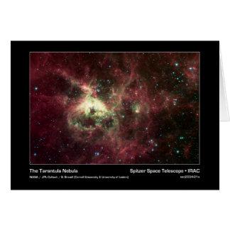 La nebulosa del Tarantula - telescopio espacial de Tarjeta De Felicitación