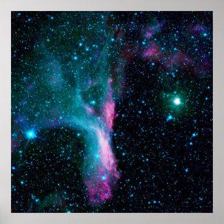 La nebulosa reflectora DG 129 de la garra del esco Poster