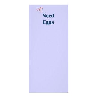 La necesidad Eggs recordatorios Lonas Personalizadas