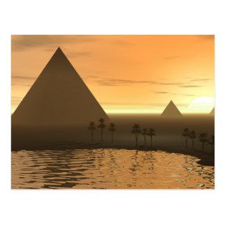La necrópolis de Giza Tarjetas Postales