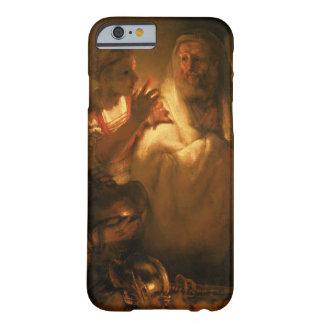 La negación de San Pedro, 1660 (aceite en lona) Funda De iPhone 6 Barely There