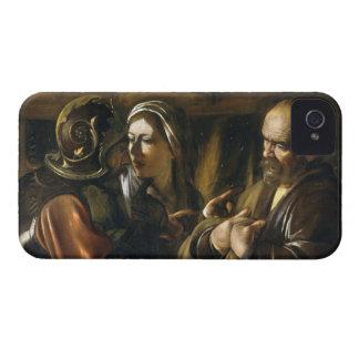 La negación de San Pedro - Caravaggio iPhone 4 Case-Mate Cárcasa