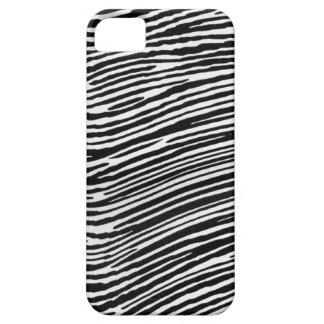 La Negro-tinta de la cebra raya Iphone 5C Funda Para iPhone 5 Barely There