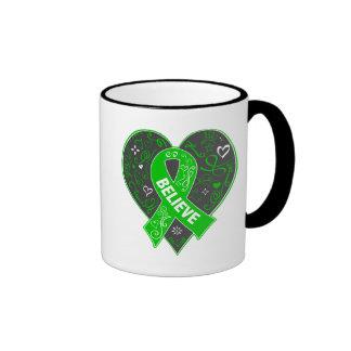 La neurofibromatosis cree el corazón de la cinta taza a dos colores