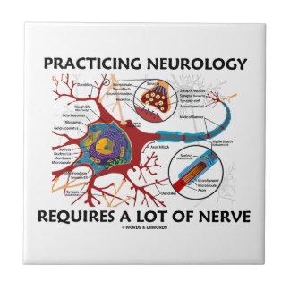 La neurología practicante requiere mucho nervio azulejo cuadrado pequeño
