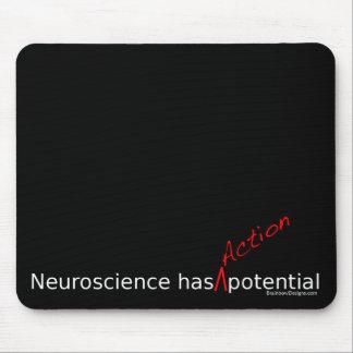 """La neurología tiene """"acción"""" Mousepad potencial Tapete De Ratones"""