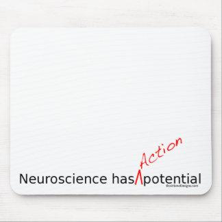 """La neurología tiene """"acción"""" Mousepad potencial Alfombrilla De Ratones"""