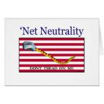 La neutralidad neta - no pise en mí felicitación