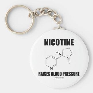 La nicotina aumenta la presión arterial (la molécu llavero personalizado