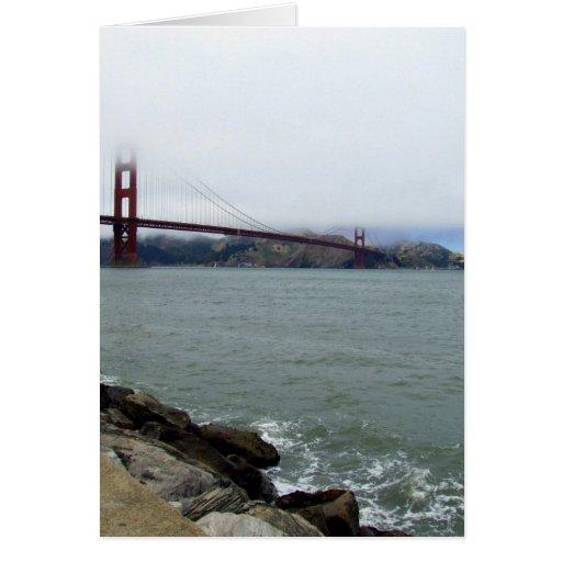 La niebla cubrió Golden Gate Tarjeta De Felicitación