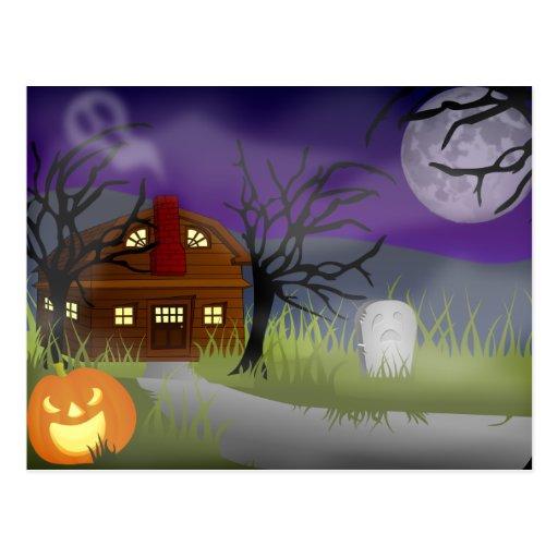 La niebla de Halloween - Tarjetas Postales